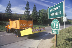 An on-ramp to highway 118 Stock Image