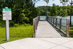 Ramp to Kayak/Canoe Launch at Stumpy Lake Stock Image
