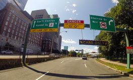 On Ramp To Storrow Drive West. Royalty Free Stock Photos