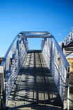 Ramp to the wild blue yonder. A ramp leads up to a clear blue sky Stock Photos