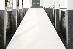 Ramp up to the building for wheelchairs. Structure Royalty Free Stock Images