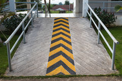 Ramp way for wheel chair Stock Images