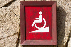 Ramp for wheelchair sign Royalty Free Stock Photo
