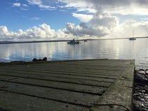 Rampa Auckland della barca fotografie stock