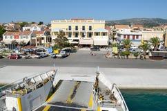 Rampa de curva de um ferryboat Fotografia de Stock