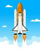 Rampa de lanzamiento del transbordador espacial ilustración del vector