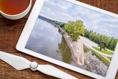 Rampa del barco del río Missouri imagen de archivo libre de regalías