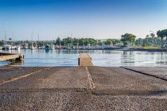 Rampa del porto della barca di Haleiwa Fotografia Stock Libera da Diritti