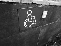 Rampa disabile - pulsante di chiamata di aiuto fotografia stock