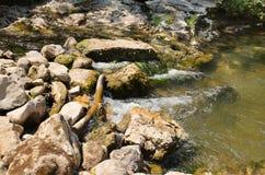 Rampa do rio da represa Imagem de Stock
