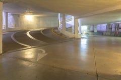 Rampa en un parking concreto, Italia Imagen de archivo libre de regalías