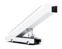 Rampa mobile di imbarco isolata su un fondo bianco renderi 3D Immagini Stock