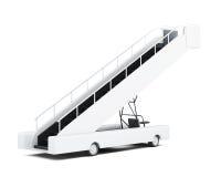 Rampa mobile su fondo bianco rappresentazione 3d Immagini Stock