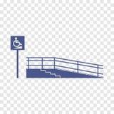 Rampa para el discapacitado Imagen de archivo libre de regalías