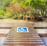 Rampa per il disabile Fotografia Stock Libera da Diritti