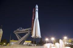 Rampa spaziale sovietica Vostock dello spazio nella mostra di VDNKh a Mosca, Russia Fotografia Stock Libera da Diritti
