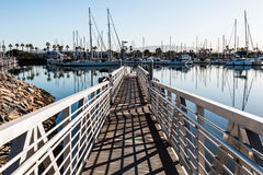 Rampa y puerto deportivo del lanzamiento del barco del parque de Chula Vista Bayfront Fotografía de archivo