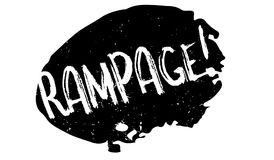 Rampage rubber stamp Stock Image