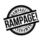 Rampage rubber stamp Stock Images