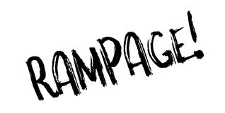 Rampage rubber stamp Stock Photos