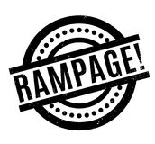 Rampage rubber stamp Stock Photography