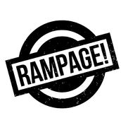 Rampage rubber stamp Stock Photo