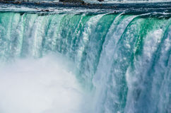 Rampaging Niagara Falls. This is a zoom image of the edge of Niagara Falls. This is in Ontario, Canada Stock Photography