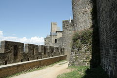 Rampart of Carcassonne. In Aude,Languedoc region of France Stock Images