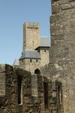 Rampart of Carcassonne. In Aude,Languedoc region of France Stock Photography