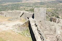 Rampart of castle in Monsanto, Portugal Stock Images