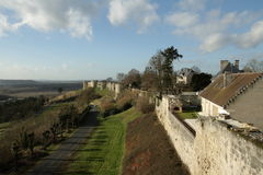 Rampart of Coucy-le-chateau. Aisne,Picardy region of france Royalty Free Stock Photo