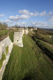 Rampart Coucy le Chateau in France. Rampart of Coucy le Chateau in Aisne, Picardie in north of France Stock Photos