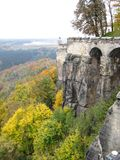 Rampart de um castelo Imagens de Stock