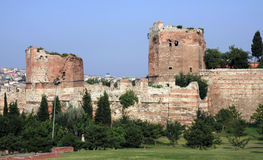 Rampart di Costantinopoli, Turchia Fotografia Stock