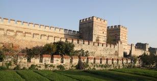 Rampart di Costantinopoli, Turchia. Fotografie Stock