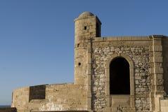 Rampart Essaouira, Marokko Stockfotos