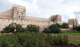 The Rampart of Istanbul. View of Historical Istanbul Rampart, Turkey Stock Photography
