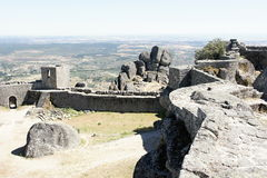 Rampart of Monsanto castle in Portugal Stock Image