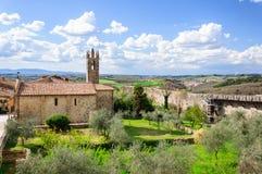Rampart Monteriggioni, Тоскана Стоковые Фотографии RF
