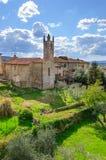 Rampart Monteriggioni, Тоскана Стоковые Изображения RF