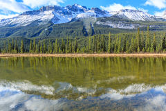 Rampart Ponds in Icefields Parkway, Alberta, Canada Royalty Free Stock Photography