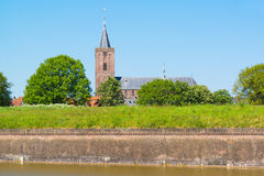 Rampart and Saint Vitus Church, Naarden, Netherlands Royalty Free Stock Photos