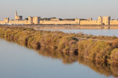 Ramparts of Aigues-Mortes, France Stock Photos