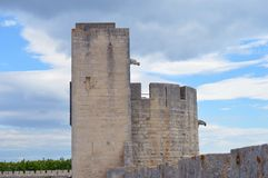 Ramparts of Aigues-Mortes Royalty Free Stock Images