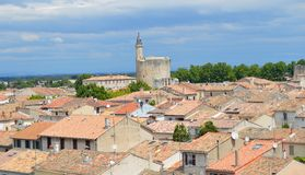 Ramparts of Aigues-Mortes Stock Photography