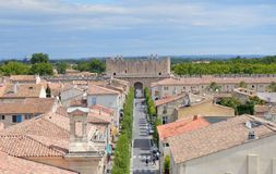 Ramparts of Aigues-Mortes Stock Image