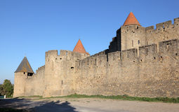 Ramparts of Carcassonne, France Stock Photo