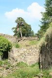Ramparts of castle Girls Stone Royalty Free Stock Photography