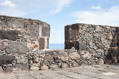 Ramparts from the Castle of Santa Catalina. The castle is in Santa Cruz on the Spanish island of La Palma Stock Photography