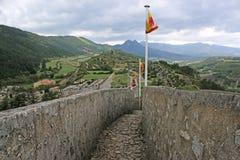 Sisteron Citadel, France. Ramparts of the citadel in Sisteron, France Stock Photo